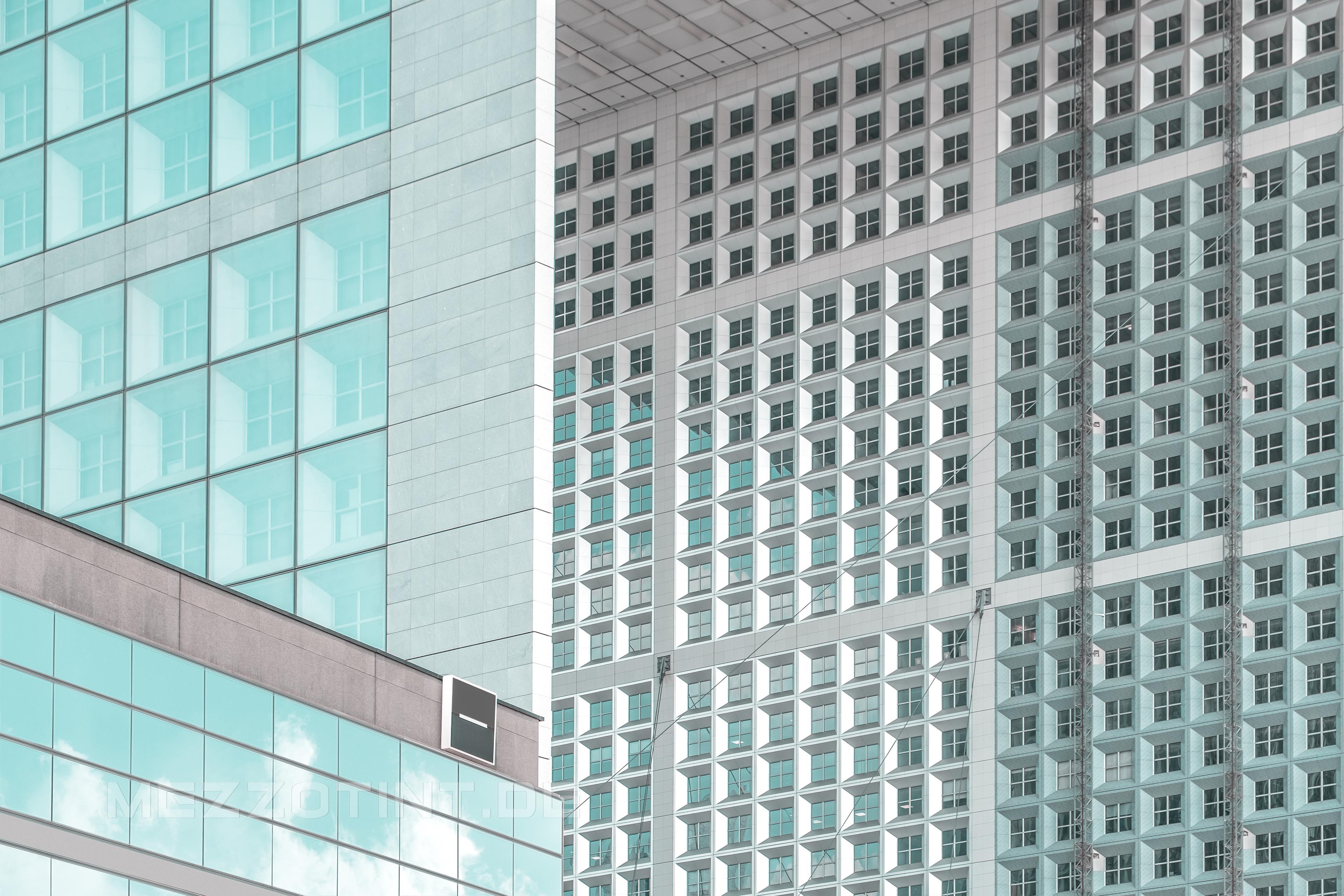 modern multi window glass facade