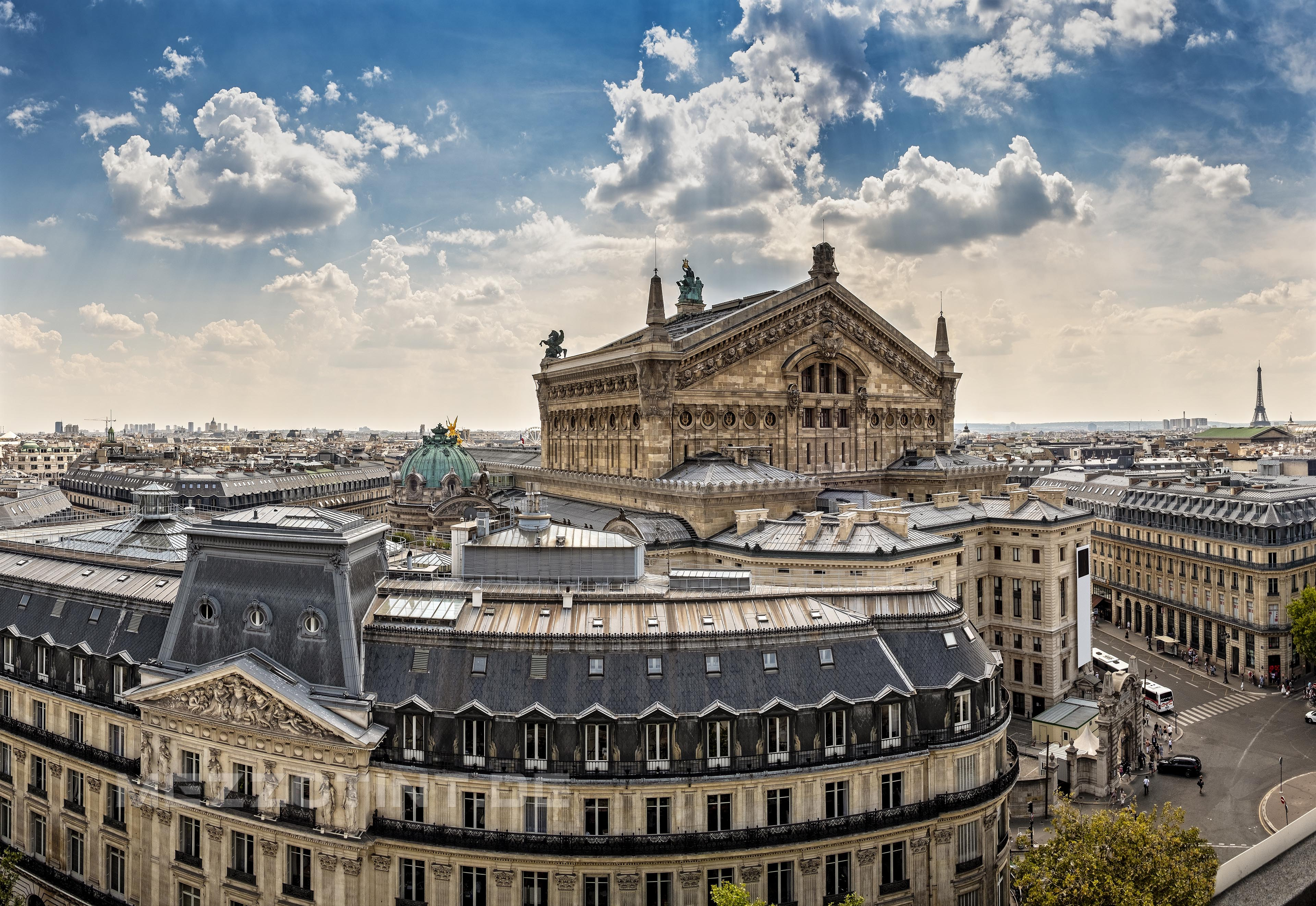 Paris top view with opera national